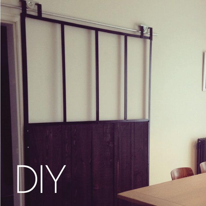 DIY   La verrière en bois et métal
