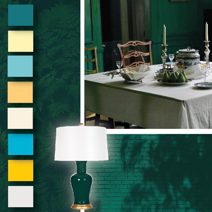 Avec quelles couleurs associer un vert émeraude, couleur tendance 2017 ?