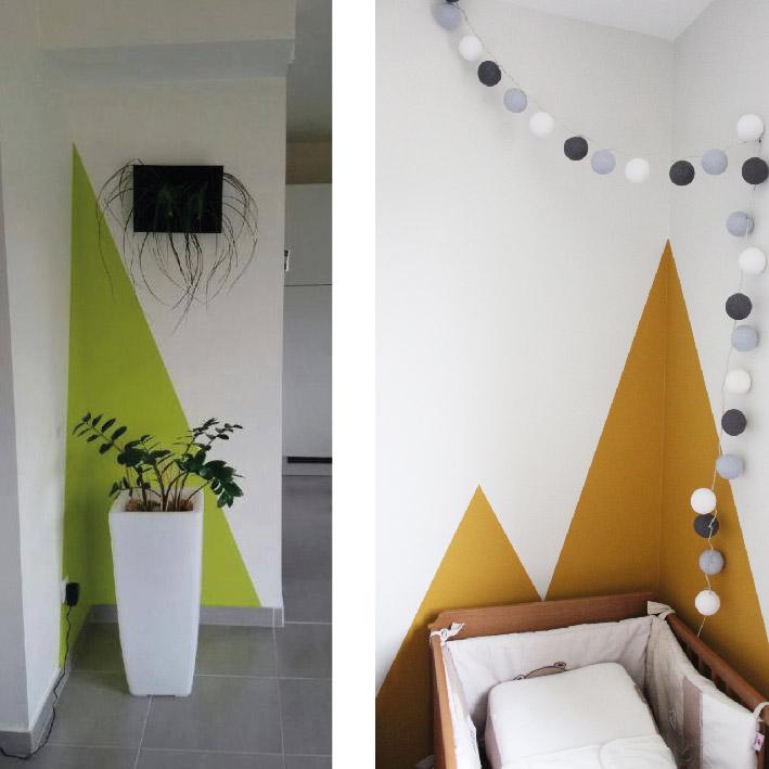 Comment peindre des formes sur un mur ?