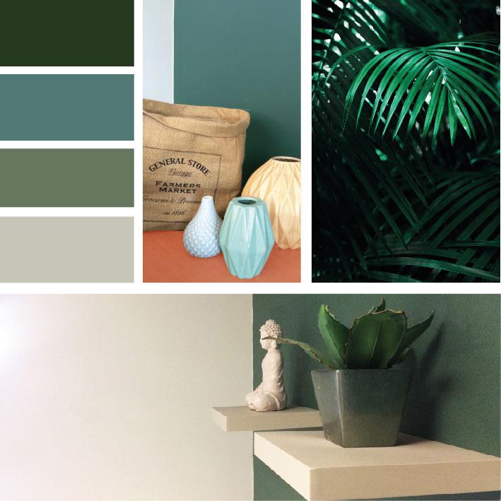 Avec quelle couleur marier du vert dans une pièce ?